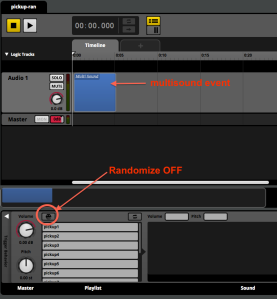 Randomize off and multisound FMOD
